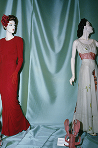 left: La Sirène dress by Charles James right: Lobster dress by Elsa Schiaparelli and Salvador Dalí.