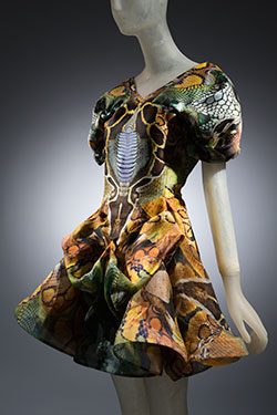 Alexander McQueen, silk dress from Plato's Atlantis Collection, Spring 2010, England. Museum purchase, 2012.36.2.