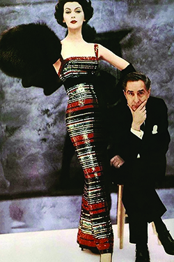 Norman Norell and model