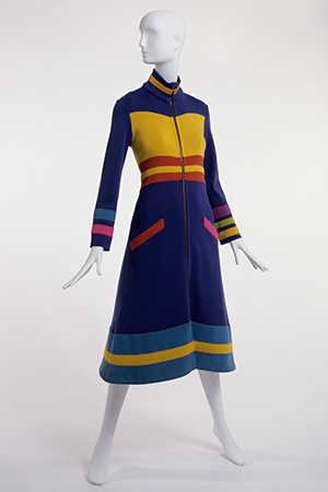 multicolor stephen burrows coatdress fall 1970 in black fashion designers at museum at fit