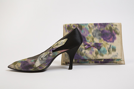Roger Vivier for Christian Dior, silk evening pumps and clutch